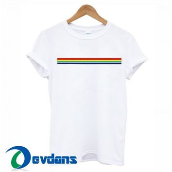 Rainbow Stripe T Shirt Women And Men Size S To 3XL   Rainbow Stripe T Shirt