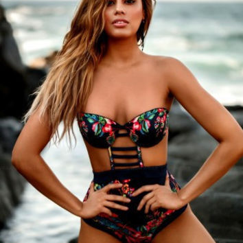 Sexy Beach Swimsuit Summer New Arrival Hot Print Fashion Swimwear Bikini [11586164623]