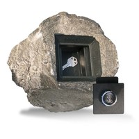 Hide-a-Key Faux Rock - Combination Lock at Brookstone—Buy Now!