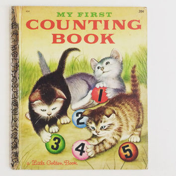 My First Counting Book - Vintage Little Golden Book