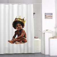 Big notorious big biggie smalls custom special custom shower curtains that will make your bathroom adorable