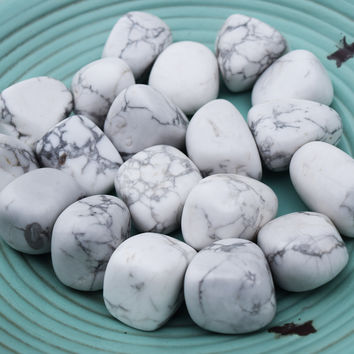 "HOWLITE ""White Buffalo"" Stone - Relieve Stress, Calm Your Mind, Brings Peace, Help With Insomnia"