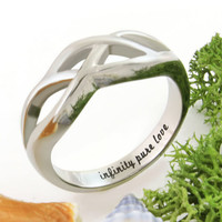"""Promise Ring Infinity Ring """"Infinity Pure Love"""" Best Gift for Girlfriend"""