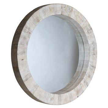 Pre-owned Driftwood Round Mirror