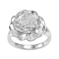 jcpenney | Silver-Plated Flower Ring
