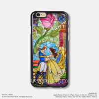 The beauty and the beast iPhone Case Black Hard case 099