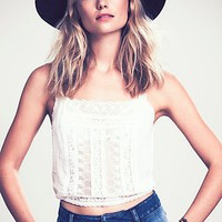Free People Womens Lace Inset Cami