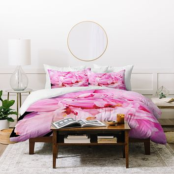 Happee Monkee Pretty Pink Peony Duvet Cover