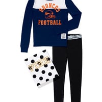 Denver Broncos Crew and Logo Waist Leggings Gift Set