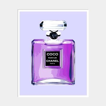 CHANEL PERFUME BOTTLE ART PRINT
