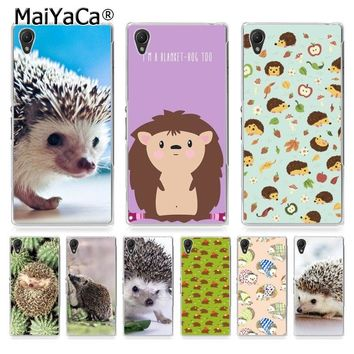 MaiYaCa Cute animal hedgehog Coque Shell Phone Case  for Sony Z5 Z4 Z3 Z2 Z5C LG G3 G4 G5 Moto G4 G Play