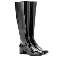 saint laurent - babies patent-leather knee boots