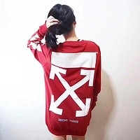 OFF-White Woman Men Fashion Top Sweater Pullover