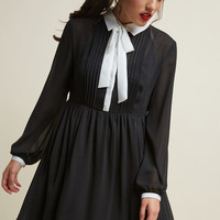 Detail Your Delight Chiffon Shirt Dress
