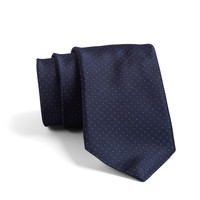 Crosby Pindot Tie In Navy
