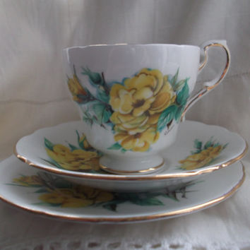 Paragon cup, saucer and plate (trio) - Rimosa Rose