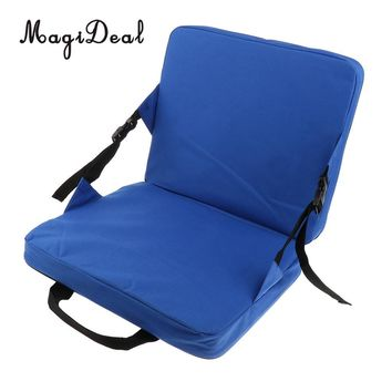 MagiDeal Rocking Chair Cushions Outdoor Folding Fishing Chair Seat & Back Pad for Car Seat Stadium Seat Padding