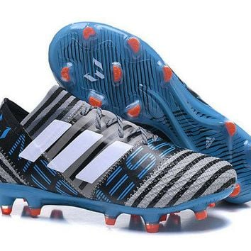 Good Adidas Nemeziz Messi 17+ 360 Agility FG Soccer Cleats Grey White Core Black