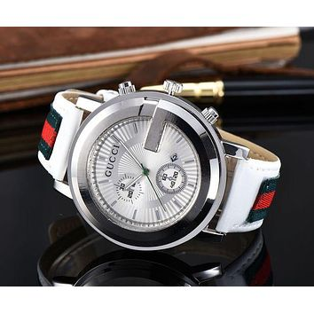 GUCCI New Fashion Leather Watch Business Woman Men  Watches Wrist Watch