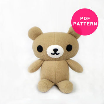 Plushie Pattern - Plush Teddy Bear PDF
