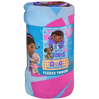Disneys Doc McStuffins Best Pet Vet in Town Fleece Throw