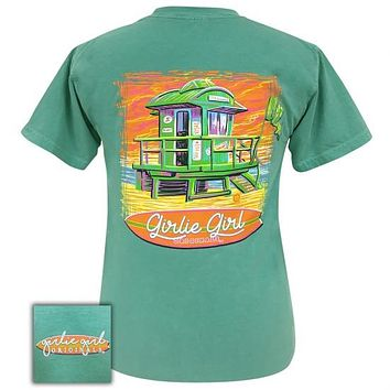 Girlie Girl Originals Lifeguard Shack Comfort Color Seafoam T-Shirt