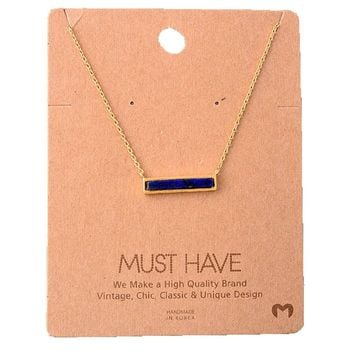 Must Have-Bar Necklace, Navy
