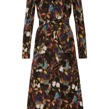 Printed cotton-blend coat | Valentino | US | THE OUTNET
