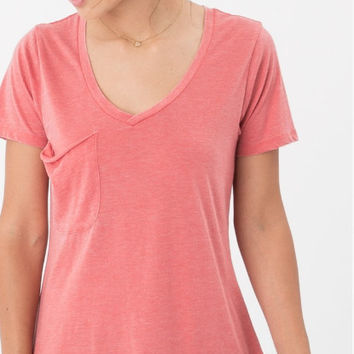 """Z-Supply """"The Pocket Tee"""" - Spiced Coral"""