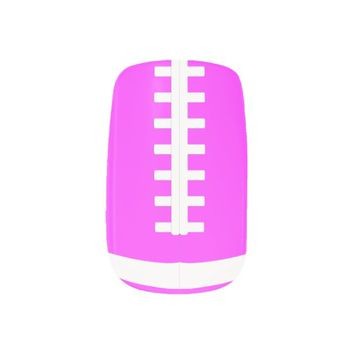 Pink Football Fingernail Art Wraps Minx® Nail Art