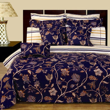 Lilian Bed in a bag 12pc Reversible Egyptian cotton 400 Thread count
