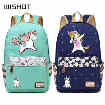 Cute Unicorn Cartoon Backpack For Girls