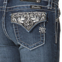 Girls: Miss Me Paris Embellished Flap Skinny Jean