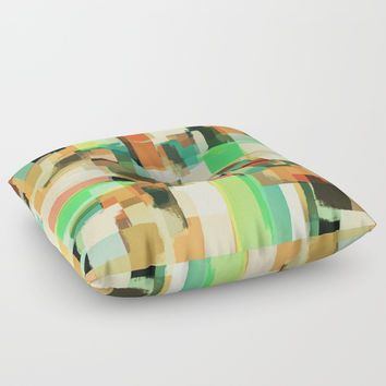 Abstract Painting No. 5 Floor Pillow by Metron