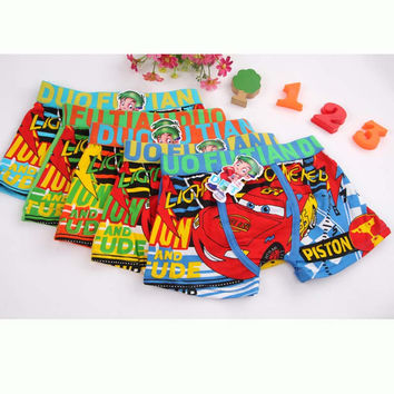 Boy underwear Free shipping 2016 new fashion kids cartoon bird animal style boxer short boy's children panties 3pcs/lot 3-11 y
