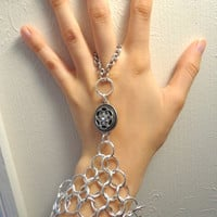 Silver Chainmail Slave Bracelet