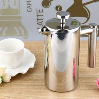 350ml Stainless Steel Cafetiere French Press with Filter Double Wall Espresso Coffee Maker