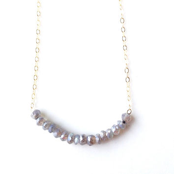 Addie Labradorite Beaded Necklace