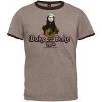 Dazed And Confused - Mens Wake & Bake T-Shirt Large Tan