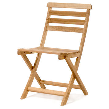 All Things Cedar OB18 Bistro Wooden Fold Up Chair