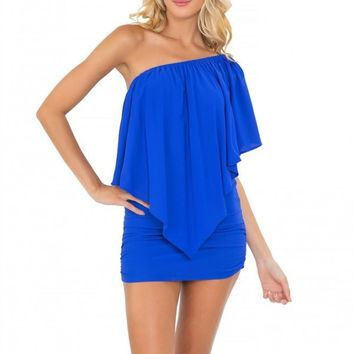Luli Fama Blue Party Dress