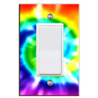 Light Switch Cover Decal Tie Dye Hippie Peace Love Kids Room Sticker Art LS2SF
