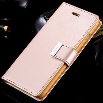 i6/Plus Wallet Pouch Style Fashion Women Flip Leather Case For iPhone 6 4.7 6S 6/6s Plus Folding Wallet Holster Card Slot Cover