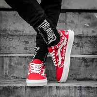 Vans & Supreme Canvas Old Skool Flats Sneakers Sport Shoes