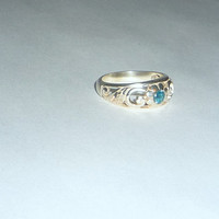 London Blue Topaz Ring Sterling Silver .925