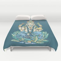 Ganesh  Duvet Cover by Kristy Patterson Design