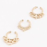 Kaz Septum Nose Ring (Set of 3)
