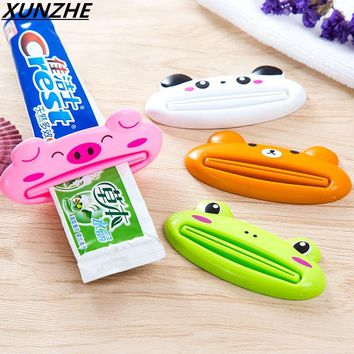 Creative Automatic Toothpaste Dispenser Minions + Toothbrush Holder Set Family Bathroom Set Wall Mount Rack Bath Accessories