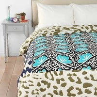 Magical Thinking Leopard Patchwork Duvet Cover