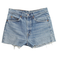 Rokit Recycled Levi's Blue Denim Shorts W28 | Denim | Rokit Vintage Clothing